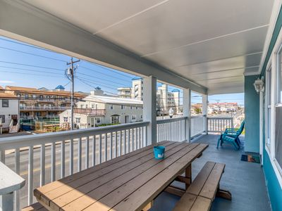 Photo for A pair of downtown condos w/ a furnished balcony & full kitchens - walk to beach
