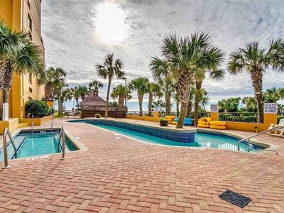Photo for 4th floor OCEAN VIEW studio condo has room for up to 6, fantastic amenities, and the BEACH below!