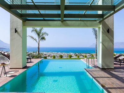 Photo for Luxury Modern Villa with Private Pool, Sea View, 5 Bedrooms, Near the Beach