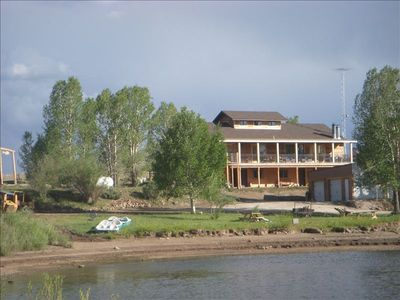 View from lake, boats, beach, rec room all balconies have v lake view 6 boats