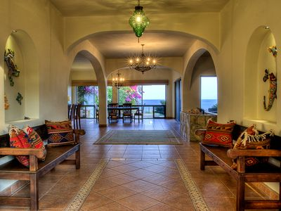 Photo for Luxury Bluff Top Vacation Home with Palapa and Infinity Pool