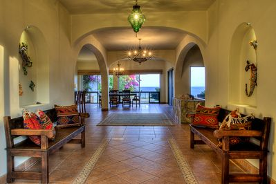Welcome to Villa Vista Hermosa Entry and Main  Foyer