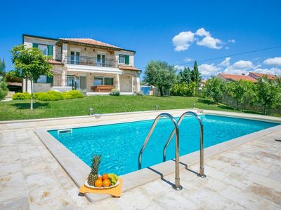 Photo for Luxury villa 2 km from the beach with private pool and panoramic view