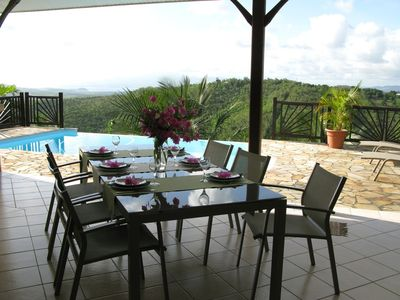 Photo for Superb quiet Villa with pool. Ste Luce. Clear sea view. Near south beaches