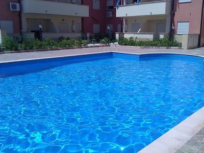 Photo for Superb top floor three bedroom apartment with communal pool