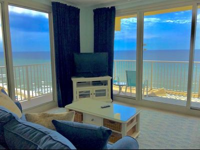 Photo for OCEANFRONT CORNER UNIT with wrap around balcony. Breathtaking views!