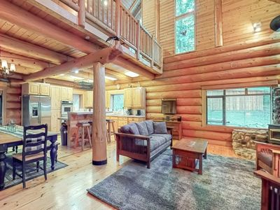 Photo for NEW LISTING! Beautiful & secluded log home w/hot tub, near Lake Wenatchee