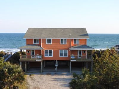 Photo for Beautiful Emerald Isle Oceanfront 5 Bedroom Duplex: 'Changes In Attitudes'