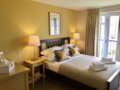 """Master bedroom..."""" Comfy beds, with soft sheets and fluffy duvets"""" Chandra May 2017."""