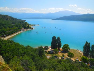 Photo for HOLY CROSS of VERDON APPART DUPLEX 70m2 LAKE VIEW WIFI TV SAT Astra1kr Parking.