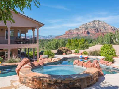 Photo for Sedona Grand Private Pool & Spa-Red Rock Views-Luxury, In Town Location 5BD 5BA