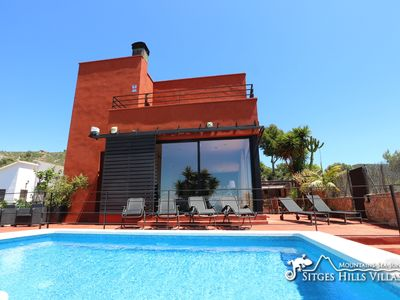 Photo for Villa Gala,  Great Sitges & Sea Views, A/C with pool - Contemporary Style