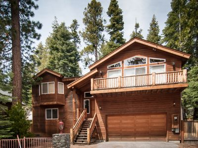 Photo for LUXURY MT home, w/ hot tub, family rm, fenced yard, tree house! walk 2 beach