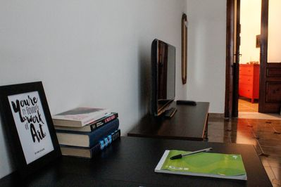 Bedroom desktop, a nice area for your writings and laptop works.