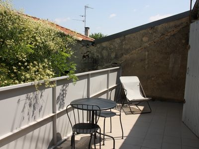 Photo for 2 rooms with terrace, tram 4 minutes, comedy 10mns, shops nearby