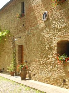 Photo for LaColombaia charming house with pool in the heart of Tuscan facing San Gimignano