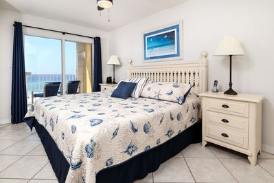 Master Bedroom - This calming Master Bedroom with your own private getaway to the balcony. Who can ask for more?!?