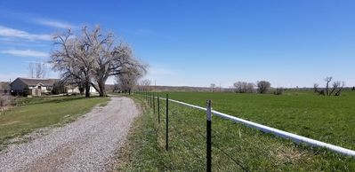Driveway view. The road stops at our home.