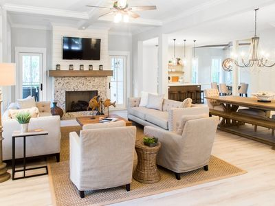 Photo for Spacious beach Home w/ private pool & covered deck - close to the beach!