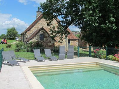 Photo for Old farmhouse with privat pool- BADEFOLS D'ANS