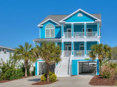 Photo for A Sea Dream, Luxury Rental, Steps from Beach, Ocean View Balcony, Game Room, Pool and Hot Tub