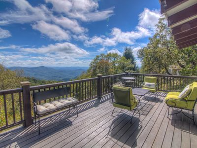 Photo for Charming Cottage with Big Views, Stone Fireplace, Grills, Recently Renovated, Dog Friendly