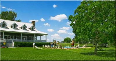 Rio Lago sits on 200 acres and has a private pool for you and your guests
