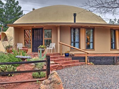 Photo for 3BR+Loft Sedona Dome Home w/Yard & Red Rock Views!