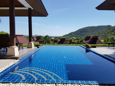 Infinty pool with panorama view