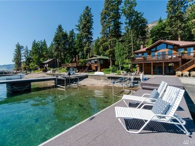 Photo for Lakefront home w/ private hot tub offers gorgeous views and a great location!