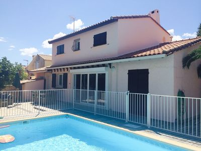 Photo for Beautiful Detached Holiday Home/Pool In Marseillan. Open-Plan, Architect Design