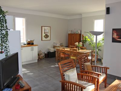 Photo for Beautiful apartment 2/3 rooms 70m2, 5th floor, elevator, renovated, garage, Wifi