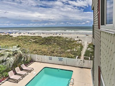 Photo for Beachfront Myrtle Beach Condo w/Patio&Pool Access
