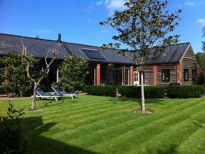 Photo for lovely big barn with hot tub