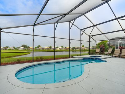 Photo for Be Our Guest-Upgraded 3BR Lakeview Pool Home, WiFi, Disney