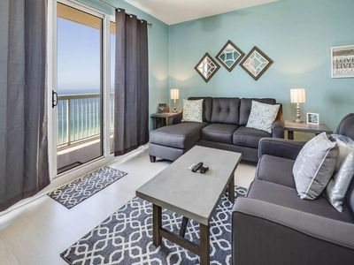 Photo for Stunning Vacation Rental, Beach set-up included, On-site pool and hot tub, On the beach