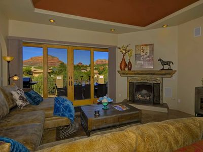 Photo for STUNNING RED ROCK VIEWS-  5BR/3BA SLEEPS 14!