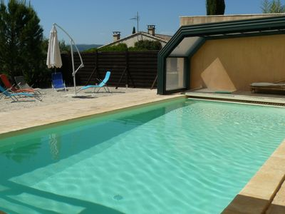 Photo for a family house with pool for 10 people in the Cevennes