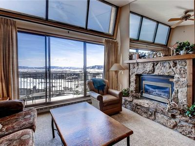 Top floor ski-in mountain view condo with shared pool/hot tub
