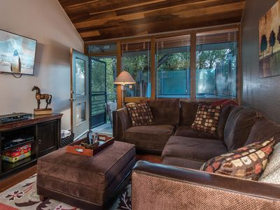 Photo for SANITIZED-Relaxing Mountain Getaway w/Private HOT TUB, Grill, and 2 Family Rooms
