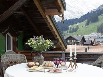 Luxury, 5 star tourism rated ski chalet in Murren with 360 views