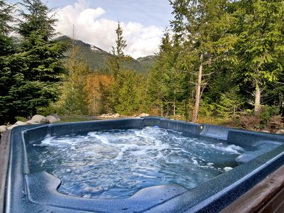 Photo for Gorgeous dog-friendly home w/ mountain views, private hot tub & game room!