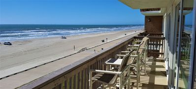 Photo for OUR BEACH IS NOW OPEN - A TRUE BEACHFRONT - FULL ON PANORAMIC GULF VIEWS