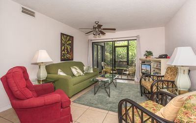 Photo for Lovely 2 bedroom 2 bath ground floor condo at Sea Woods. Walking distance to car free beach. SC105