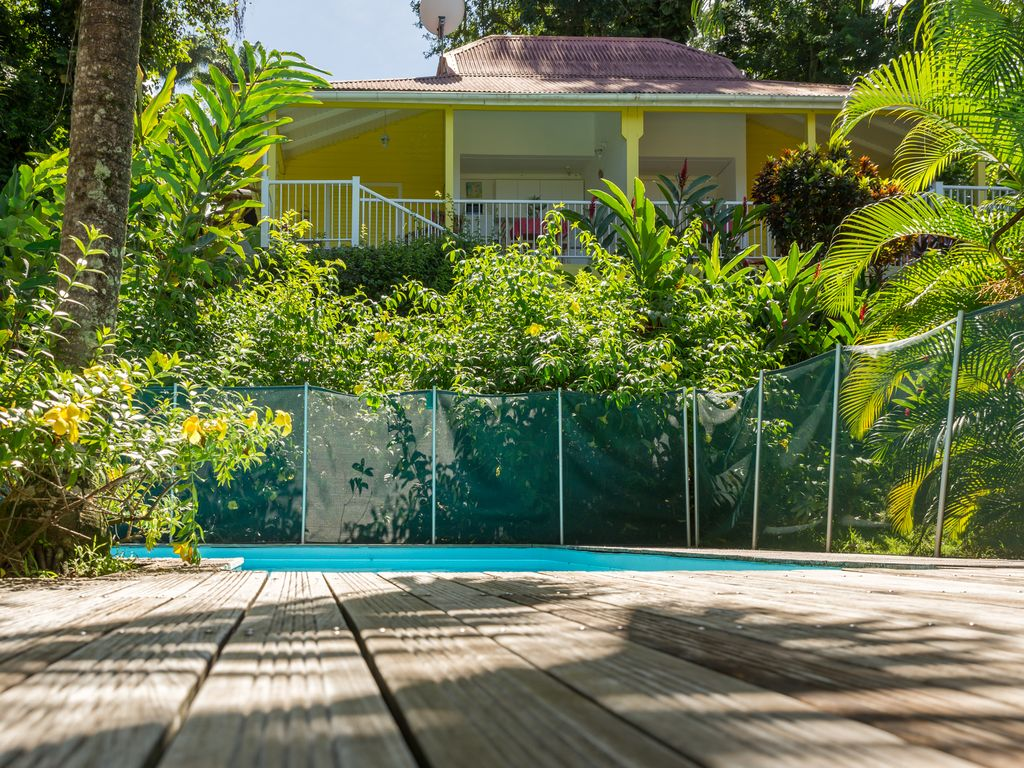 Holiday House With Swimming Pool In A Tropical Garden Beach At 2km Bouillante Bouillante