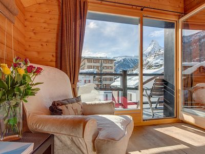 Photo for oldhousezermatt Unique wooden chalet apartment, Matterhorn view, Central