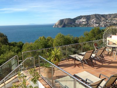 Photo for Villa With Private Pool And Large Hot Tub/Spa, Great Sea Views And Games Room.