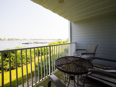 Photo for First Floor 2BR Waterfront Condo on Ole River and Across from the Beach