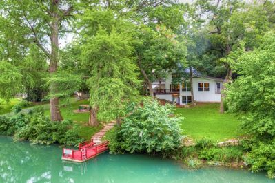 Enjoy the private access to the river right from our back yard!