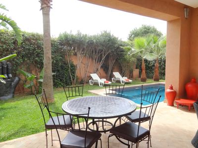 Photo for SPACIOUS CHARMING VILLA ON PRIVATE GOLF-SWIMMING POOL- 4 BEDROOMS-MARRAKECH-GOLF
